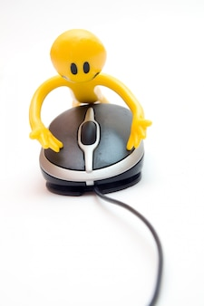 Character using a mouse