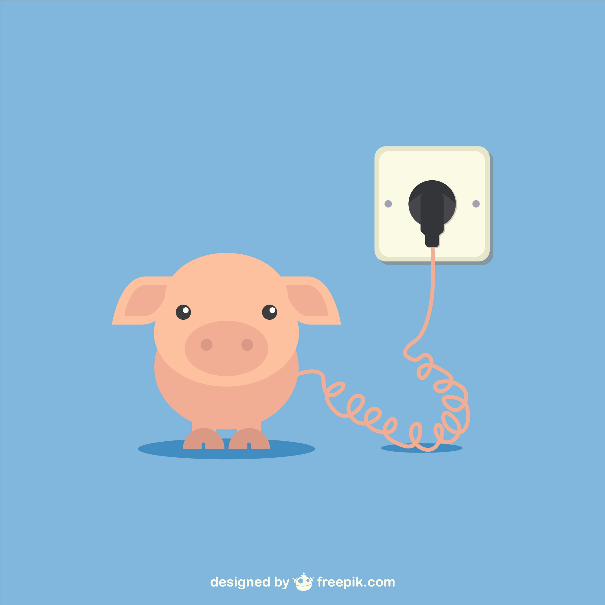Charging batteries vector