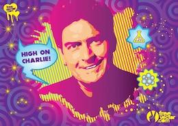 Charlie Sheen Drug Vector