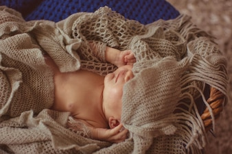 Charming baby lovely closed infant