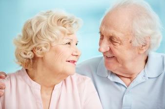 Charming family bonding elder candid