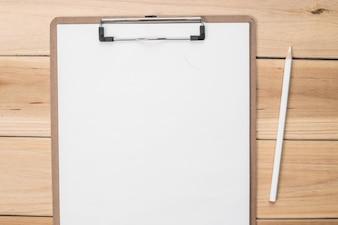 Checklist with a pencil