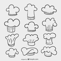 Chef hats drawings