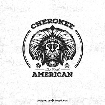 Cherokee american badge