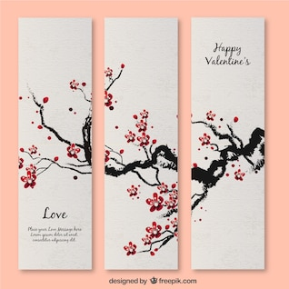 Cherry blossom Valentine's card