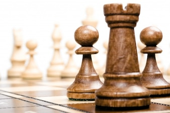 Chess pieces foreground