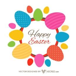 Chic Easter Eggs Contgratulation