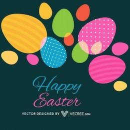 Chic Happy Easter Egg Pattern Decoration