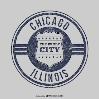 Chicago stamp vector