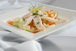 Chicken salad, lettuce