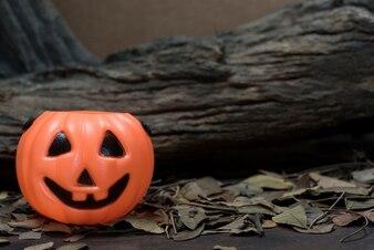 Child halloween pumpkin bucket