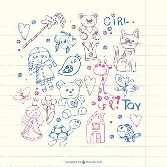 Children doodles vector