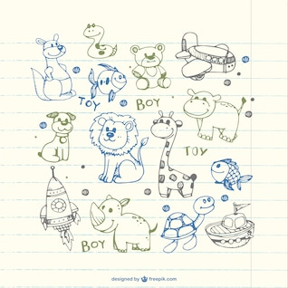 Children drawings of animals