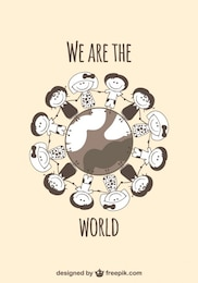 Children on the glob