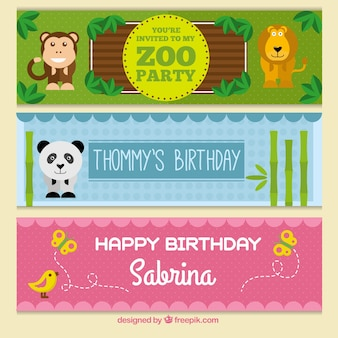 Children's birthday banners