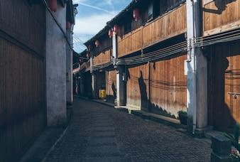 Китай древняя архитектура Хуэйчжоу и каменная дорога