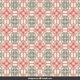 Chinese culture pattern in geometric style