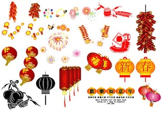 Chinese lanterns and fireworks