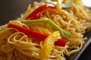Chinese noodles, asian