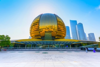 Chinese office landmark financial cbd