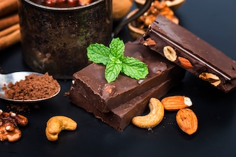 Chocolate / Chocolate bar / chocolate background