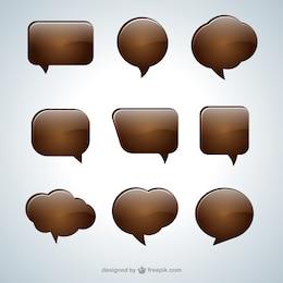 Chocolate speech bubbles