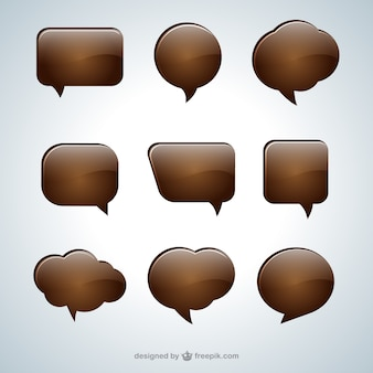 Chocolate speech bubbles