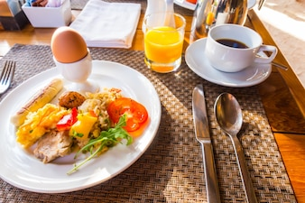 Cholesterol meal orange potato lunch