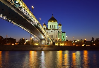 Christ the Savior Cathedral in night