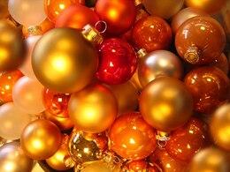 christbaumkugeln glaskugeln balls orange