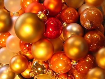 christbaumkugeln glaskugeln balls orange