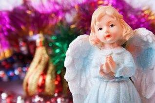 christmas angel  closeup