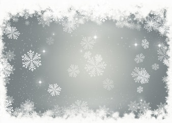 Christmas background of decorative snowflakes