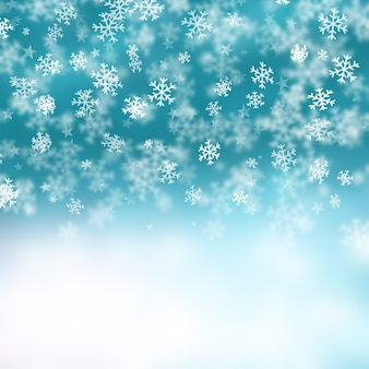 With white christmas background and snow vector vector background - Christmas Silver Snowflakes Background Vector Free Download