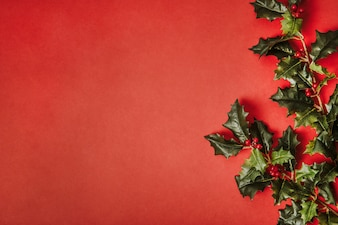 Christmas background with space on left