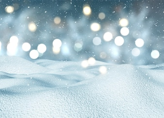 Christmas balls and golden lights