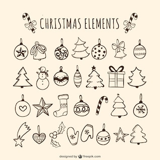 Christmas baubles drawings