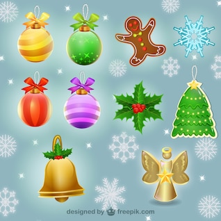 Christmas baubles illustrations