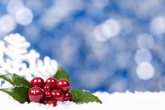 Christmas berries and a snowflake