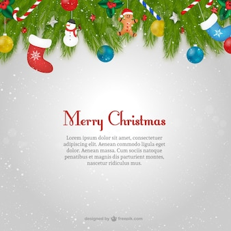 Christmas card template with text