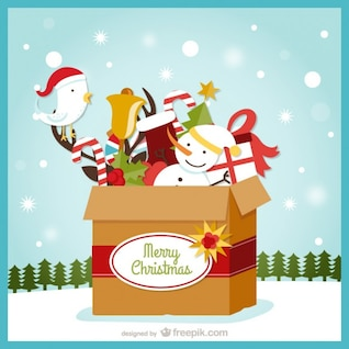 Christmas card with box