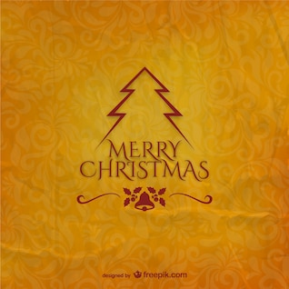 Christmas card with grunge texture