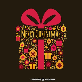 Christmas card with present box