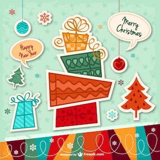Christmas card with stickers