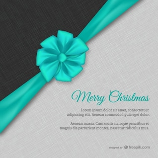 Christmas card with textile texture