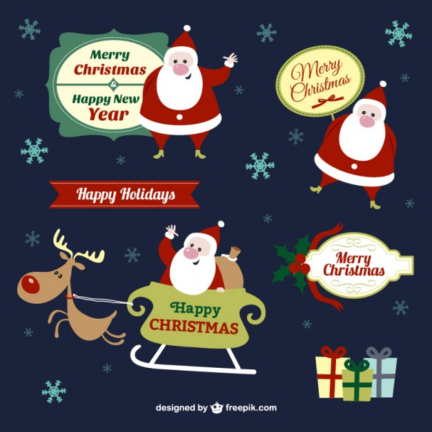Christmas cartoon elements pack