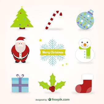 Christmas cartoon elements