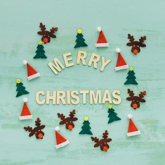 ミドルの文字でクリスマスのコンセプト