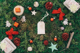 Christmas concept with tag