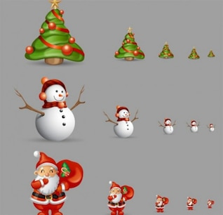 christmas elements icons
